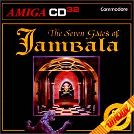 Box cover for Seven Gates of Jambala on the Commodore Amiga CD32.