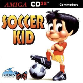 Box cover for Soccer Kid on the Commodore Amiga CD32.
