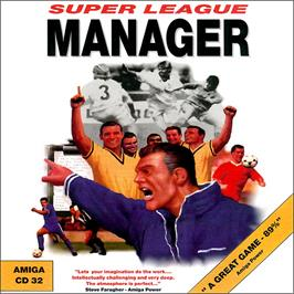 Box cover for Super League Manager on the Commodore Amiga CD32.