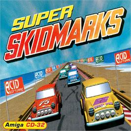 Box cover for Super Skidmarks on the Commodore Amiga CD32.