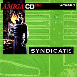 Box cover for Syndicate on the Commodore Amiga CD32.