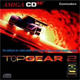 Box cover for Top Gear 2 on the Commodore Amiga CD32.