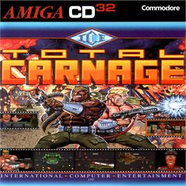 Box cover for Total Carnage on the Commodore Amiga CD32.