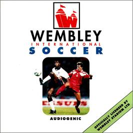Box cover for Wembley International Soccer on the Commodore Amiga CD32.
