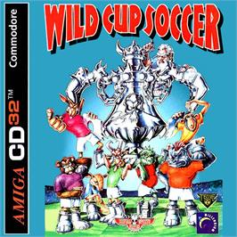 Box cover for Wild Cup Soccer on the Commodore Amiga CD32.