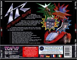 Box back cover for ATR: All Terrain Racing on the Commodore Amiga CD32.