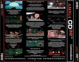 Box back cover for Akira on the Commodore Amiga CD32.