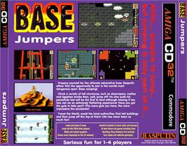 Box back cover for Base Jumpers on the Commodore Amiga CD32.