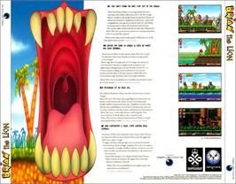 Box back cover for Brian the Lion on the Commodore Amiga CD32.