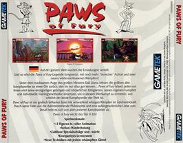 Box back cover for Brutal: Paws of Fury on the Commodore Amiga CD32.