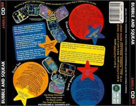 Box back cover for Bubble and Squeak on the Commodore Amiga CD32.