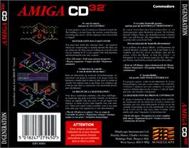 Box back cover for D/Generation on the Commodore Amiga CD32.