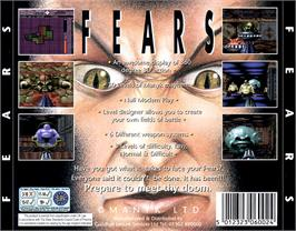 Box back cover for Fears on the Commodore Amiga CD32.