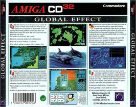 Box back cover for Global Effect on the Commodore Amiga CD32.