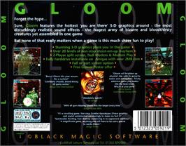 Box back cover for Gloom on the Commodore Amiga CD32.