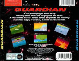 Box back cover for Guardian on the Commodore Amiga CD32.