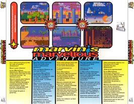 Box back cover for Marvin's Marvellous Adventure on the Commodore Amiga CD32.
