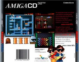 Box back cover for Naughty Ones on the Commodore Amiga CD32.