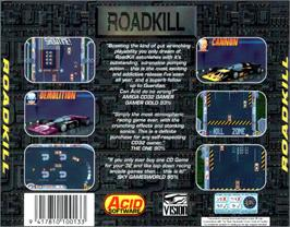 Box back cover for Roadkill on the Commodore Amiga CD32.