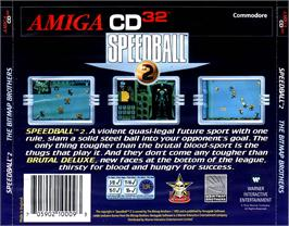Box back cover for Speedball 2: Brutal Deluxe on the Commodore Amiga CD32.