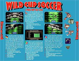 Box back cover for Wild Cup Soccer on the Commodore Amiga CD32.