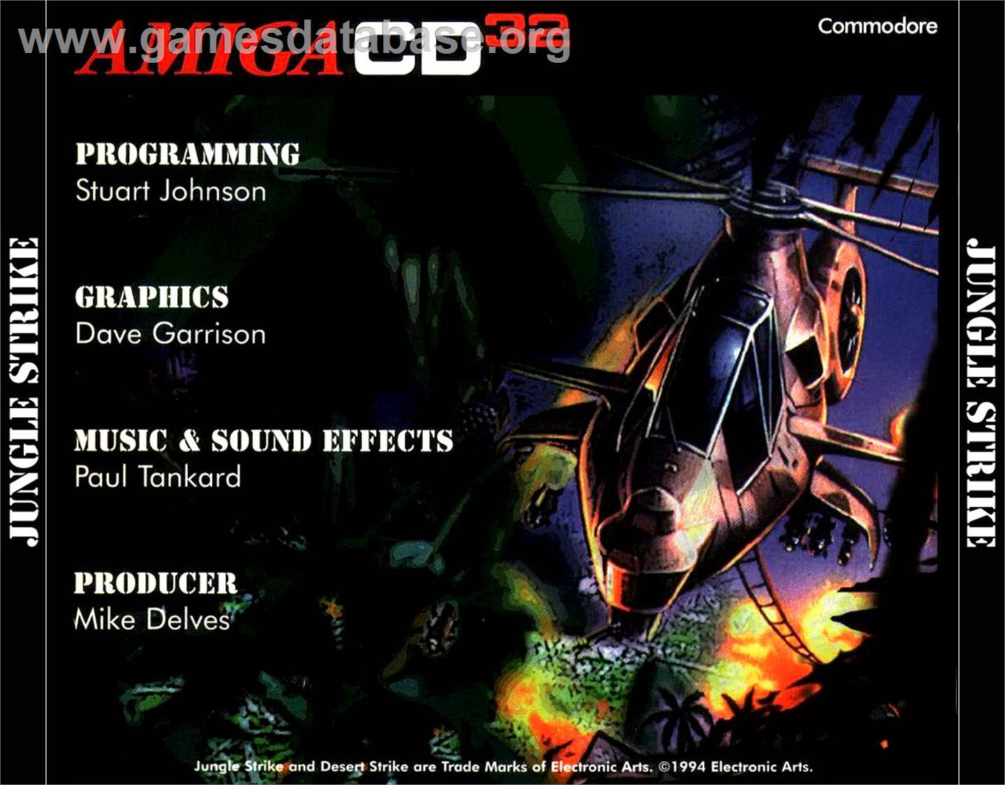 Jungle Strike - Commodore Amiga CD32 - Artwork - Box Back