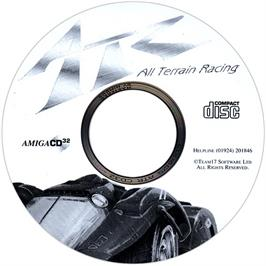 Artwork on the CD for ATR: All Terrain Racing on the Commodore Amiga CD32.