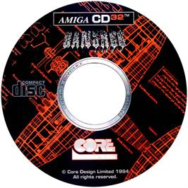 Artwork on the CD for Banshee on the Commodore Amiga CD32.