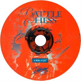 Artwork on the CD for Battle Chess on the Commodore Amiga CD32.