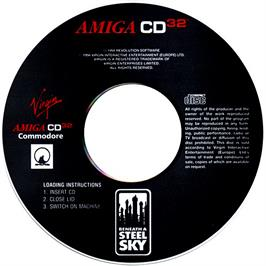 Artwork on the CD for Beneath a Steel Sky on the Commodore Amiga CD32.