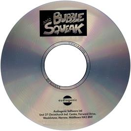 Artwork on the CD for Bubble and Squeak on the Commodore Amiga CD32.