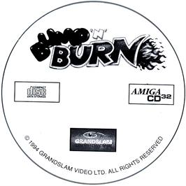 Artwork on the CD for Bump 'n' Burn on the Commodore Amiga CD32.