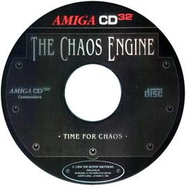 Artwork on the CD for Chaos Engine on the Commodore Amiga CD32.
