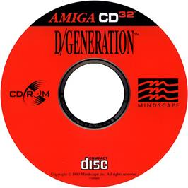 Artwork on the CD for D/Generation on the Commodore Amiga CD32.
