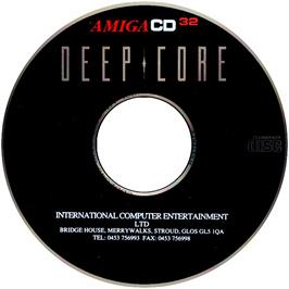 Artwork on the CD for Deep Core on the Commodore Amiga CD32.
