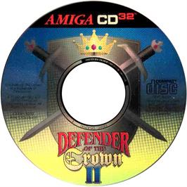 Artwork on the CD for Defender of the Crown 2 on the Commodore Amiga CD32.