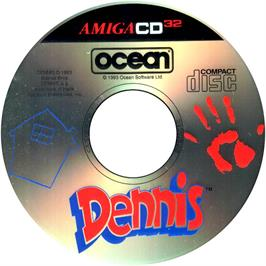 Artwork on the CD for Dennis on the Commodore Amiga CD32.