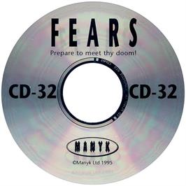 Artwork on the CD for Fears on the Commodore Amiga CD32.
