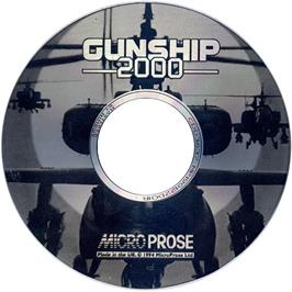 Artwork on the CD for Gunship 2000 on the Commodore Amiga CD32.
