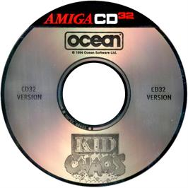 Artwork on the CD for Kid Chaos on the Commodore Amiga CD32.
