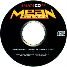 Artwork on the CD for Mean Arenas on the Commodore Amiga CD32.
