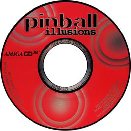 Artwork on the CD for Pinball Illusions on the Commodore Amiga CD32.