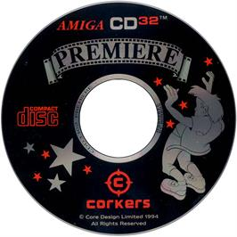 Artwork on the CD for Premiere on the Commodore Amiga CD32.