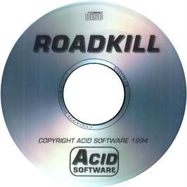 Artwork on the CD for Roadkill on the Commodore Amiga CD32.