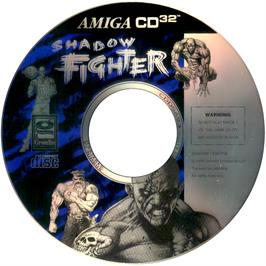 Artwork on the CD for Shadow Fighter on the Commodore Amiga CD32.