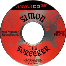 Artwork on the CD for Simon the Sorcerer on the Commodore Amiga CD32.