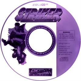 Artwork on the CD for Striker on the Commodore Amiga CD32.
