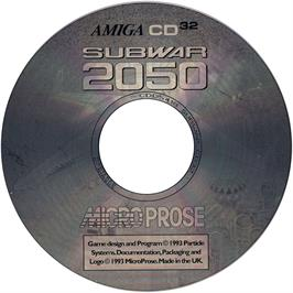 Artwork on the CD for Subwar 2050 on the Commodore Amiga CD32.