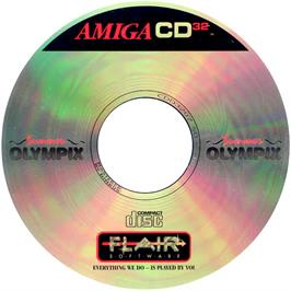 Artwork on the CD for Summer Olympix on the Commodore Amiga CD32.