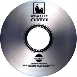 Artwork on the CD for Wembley International Soccer on the Commodore Amiga CD32.